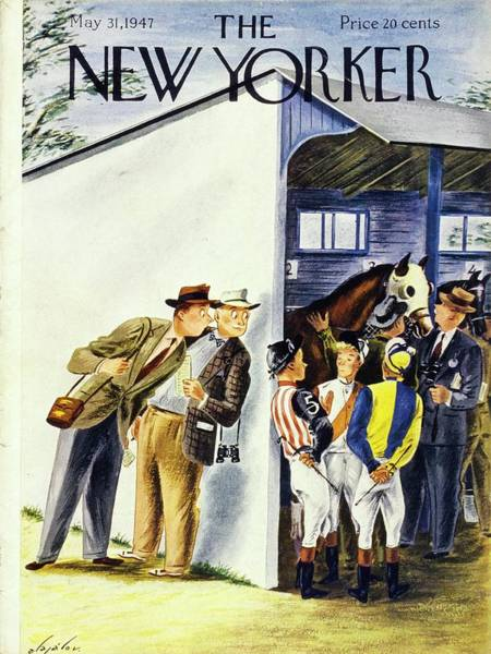 Race Horse Painting - New Yorker May 31st 1947 by Constantin Alajalov