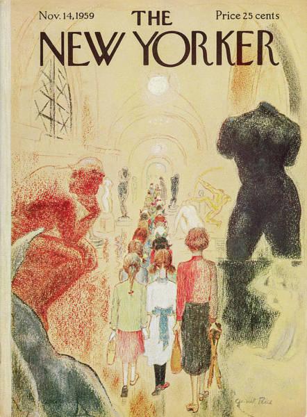 Hall Painting - New Yorker November 14 1959 by Garrett Price