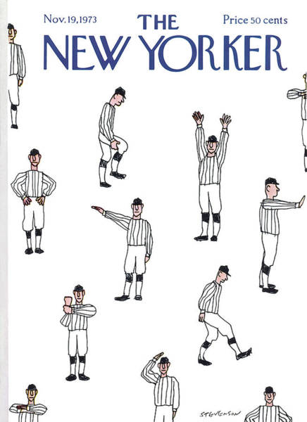 Player Painting - New Yorker November 19th, 1973 by James Stevenson