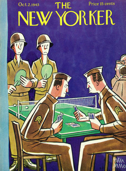 Military Painting - New Yorker October 2nd 1943 by Peter Arno