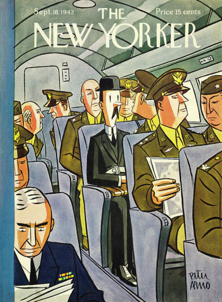 Military Painting - New Yorker September 18th 1943 by Peter Arno