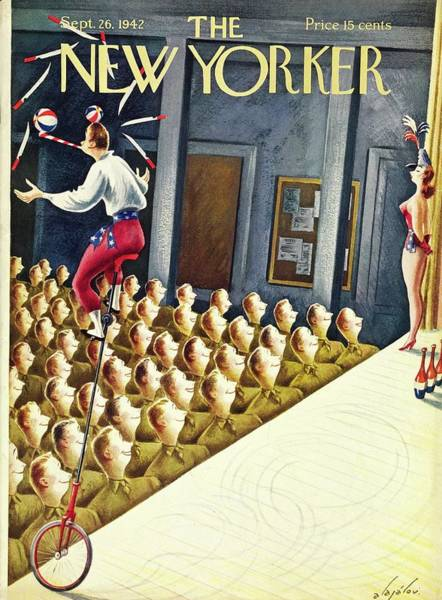 Performer Painting - New Yorker September 26th 1942 by Constantin Alajalov