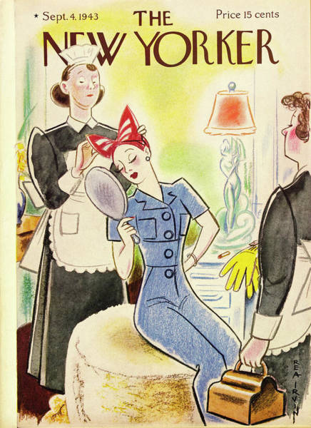 Military Painting - New Yorker September 4th 1943 by Rea Irvin
