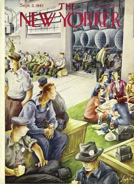 Military Painting - New Yorker September 5th, 1942 by Constantin Alajalov
