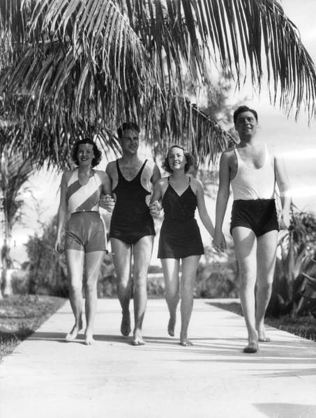 Bermuda Photograph - New Yorkers In Bermuda, 1932 by The New York Historical Society