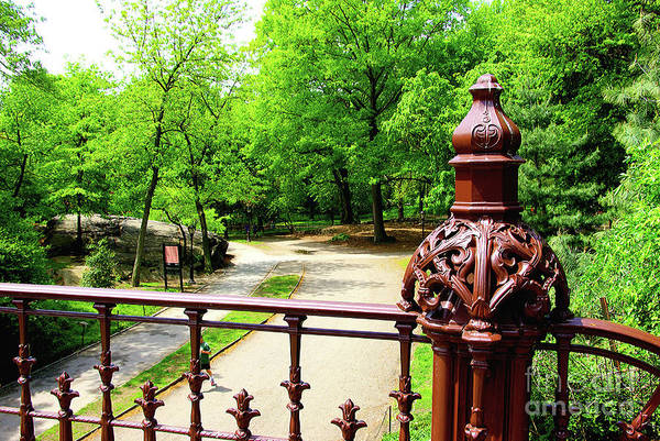 Arch Mixed Media - New York's Central Park Winterdale Arch Railing Cast Iron Art by Zal Latzkovich