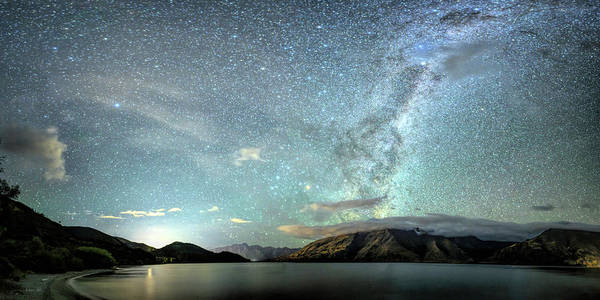 Photograph -  New Zealand Southern Hemisphere Skies Over Lake Wakatipu By Olena Art  by OLena Art - Lena Owens