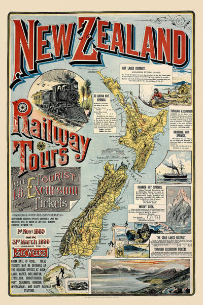 Photograph - New Zealand Travel 1889 by Andrew Fare