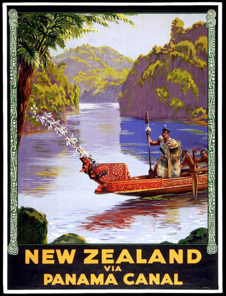 Panama Digital Art - New Zealand Via Panama Canal by Long Shot