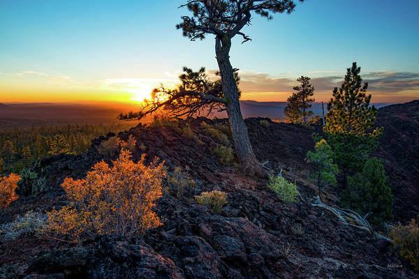 Basalt Photograph - Newberry Monument Sunrise by Leland D Howard