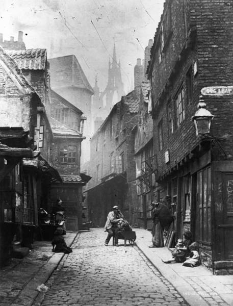 Newcastle Upon Tyne Photograph - Newcastle Slum by Lyddel Sawyer
