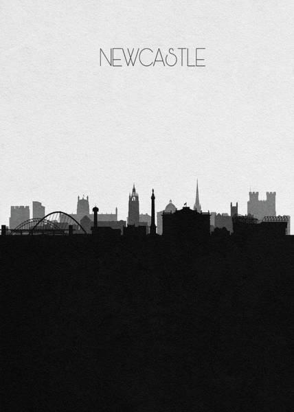 Newcastle Digital Art - Newcastle Upon Tyne Cityscape Art by Inspirowl Design