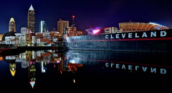 Wall Art - Photograph - Newest Cleveland Skyline by Frozen in Time Fine Art Photography