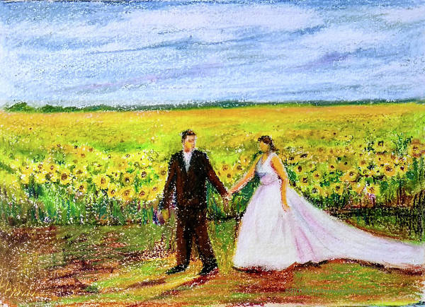 Wall Art - Painting - Newly Weds by Asha Sudhaker Shenoy