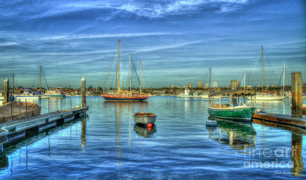 Photograph - Newport At Rest Newport Bay Harbor Southern California Art by Reid Callaway