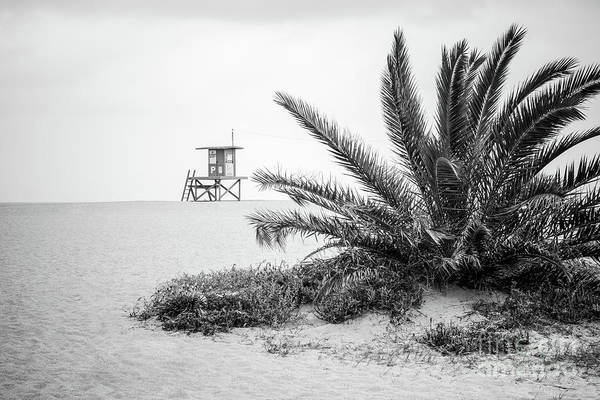 Wall Art - Photograph - Newport Beach Lifeguard Stand P Black And White Photo by Paul Velgos