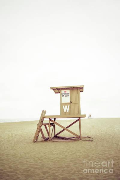 Wall Art - Photograph - Newport Beach Lifeguard Tower W Wedge Photo by Paul Velgos