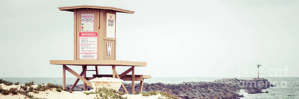 Wall Art - Photograph - Newport Beach Wedge Lifeguard Tower W Panorama by Paul Velgos