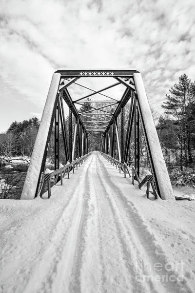 Wall Art - Photograph - Newport New Hampshire Sugar River Bridge Winter by Edward Fielding