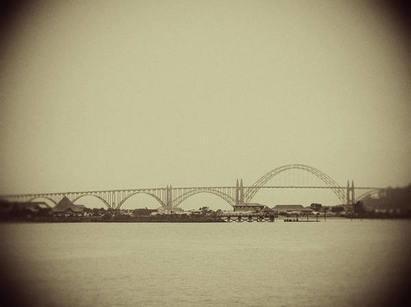 Photograph - Newport Oregon Bridge by Rebecca Cozart