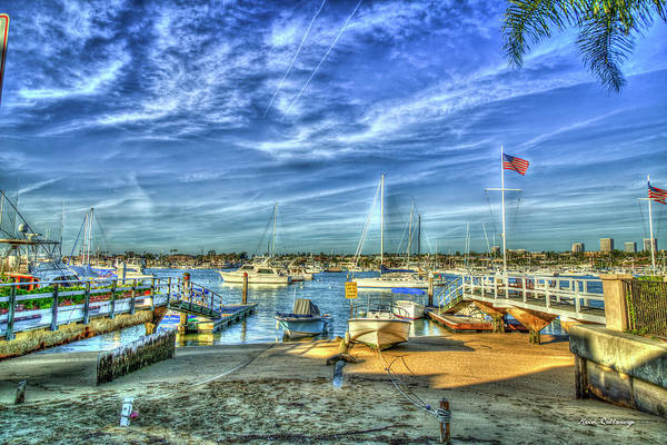 Photograph - Ever Ready Newport Bay Harbor Southern California Art by Reid Callaway