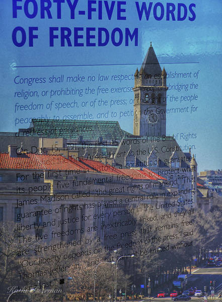 Federal Triangle Wall Art - Photograph - Newseum Rip 2019 #1 by Kathi Isserman