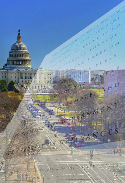 Federal Triangle Wall Art - Photograph - Newseum Rip 2019 #3 by Kathi Isserman