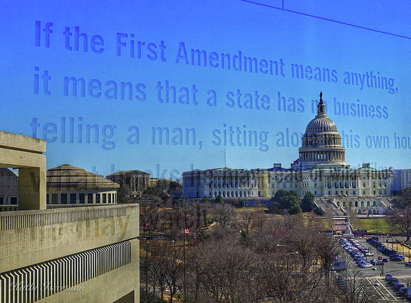 Federal Triangle Wall Art - Photograph - Newseum Rip 2019 #4 by Kathi Isserman