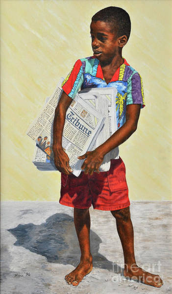 Painting - Newspaper Boy by Nicole Minnis