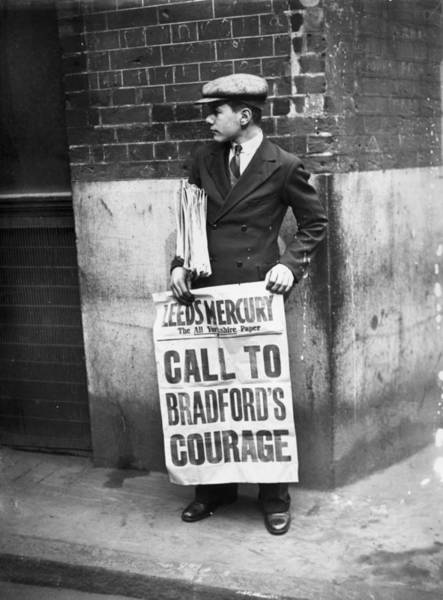 Newspaper Photograph - Newspaper Boy by Topical Press Agency