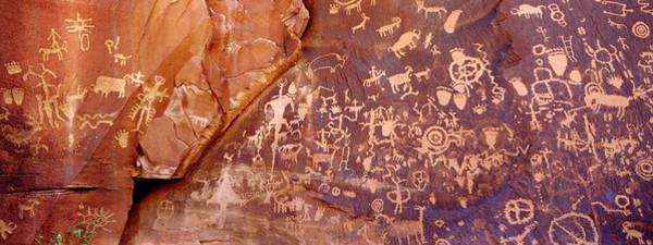 Newspaper Photograph - Newspaper Rock Petroglyphs, Utah by Rob Atkins