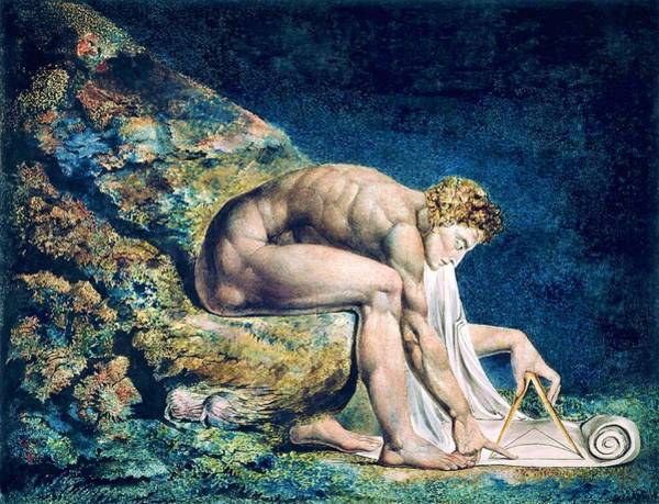Wall Art - Painting - Newton - Digital Remastered Edition by William Blake