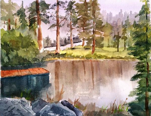Painting - Nez Perce Lake by Larry Hamilton