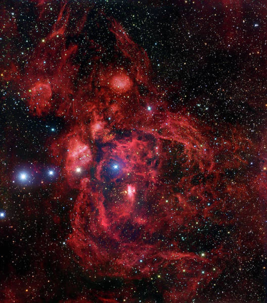 Dust Photograph - Ngc 6357, The Lobster Nebula In by Stocktrek Images