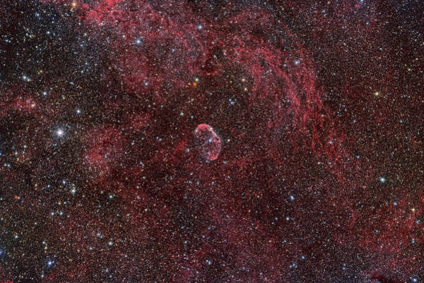 Wall Art - Photograph - Ngc 6888 Crescent Nebula by Reinhold Wittich