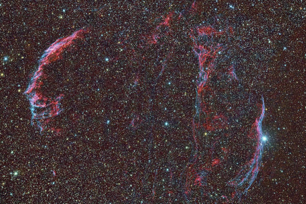 Wall Art - Photograph - Ngc 6992, The Veil Nebula by Reinhold Wittich