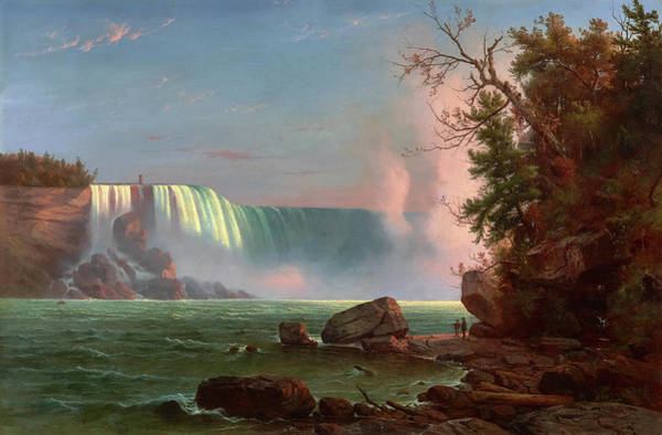 Wall Art - Painting - Niagara Falls, 1855 by Regis Francois Gignoux