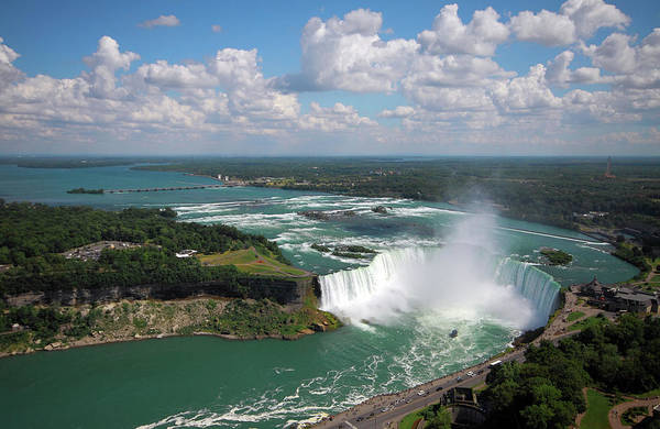 The Maid Photograph - Niagara Falls Aerial View by Orchidpoet