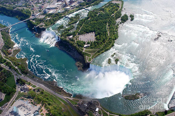 Vessel Wall Art - Photograph - Niagara Falls American And Canadian by Jiratthitikaln Maurice