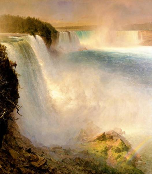 Wall Art - Painting - Niagara Falls, From The American Side - Digital Remastered Edition by Frederic Edwin Church
