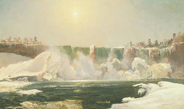 Wall Art - Painting - Niagara Falls In Winter by Jasper Francis Cropsey