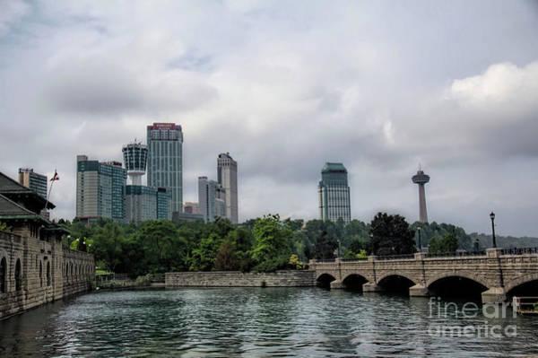 Photograph - Niagara Falls Ontario Canada Skyline by Jim Lepard