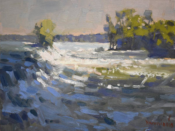Wall Art - Painting - Niagra River At Goat Island by Ylli Haruni