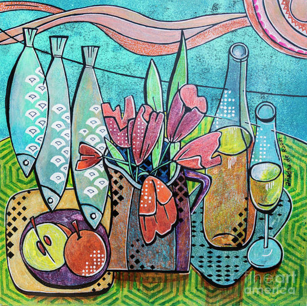 Painting - Nice Day 2, Still Life by Ariadna De Raadt