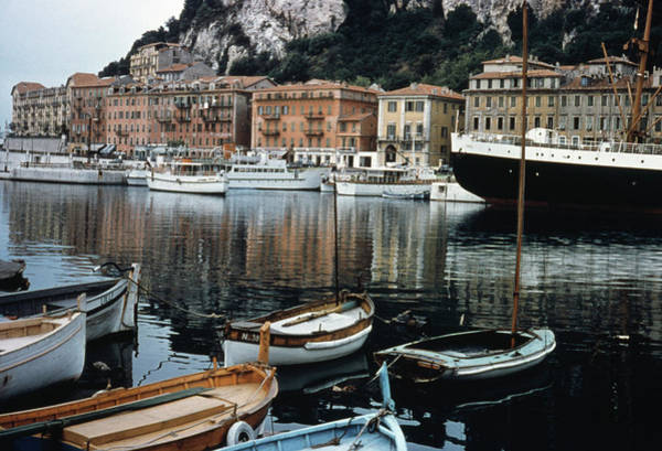 Rowboat Photograph - Nice Harbour by Archive Photos