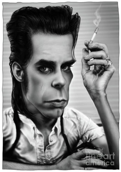 Bad Drawing - Nick Cave by Andre Koekemoer