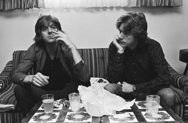 Photograph - Nick Lowe & Dave Edmunds Portrait by George Rose