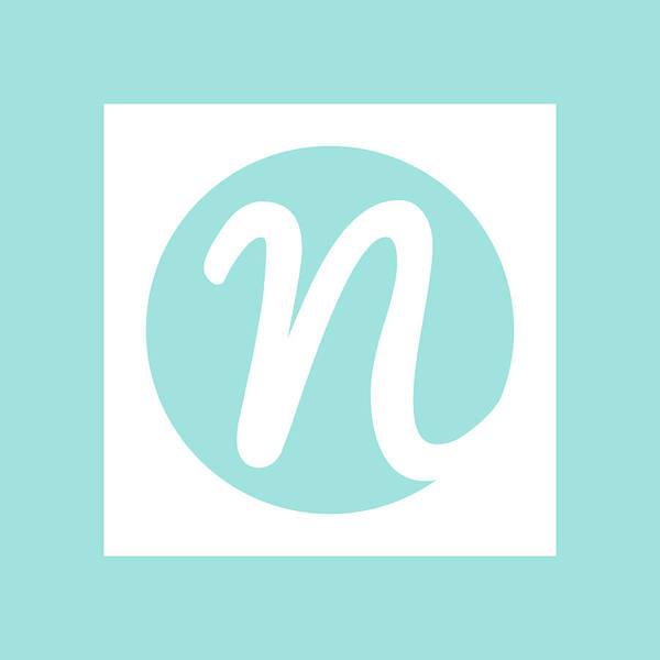Digital Art - Nicolesy Logo Pillow by Nicole Young