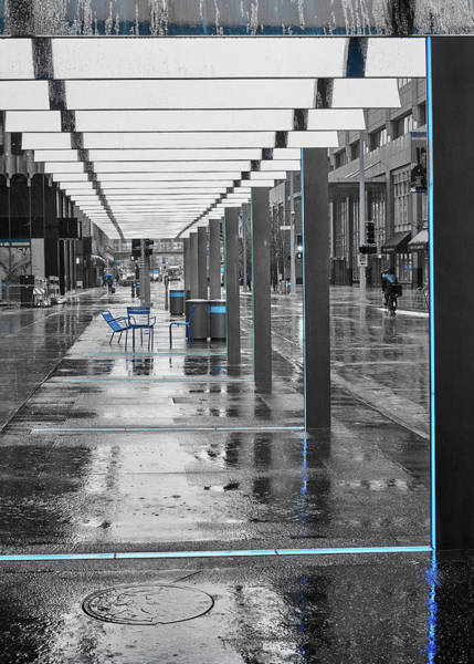 Photograph - Nicollet Mall In The Rain by Jim Hughes