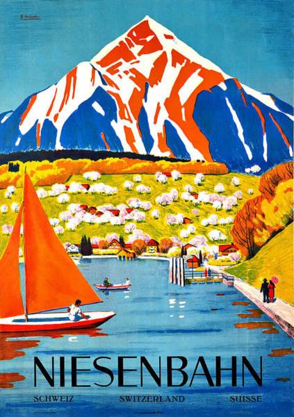 Sails Digital Art - Niesenbahn by Long Shot